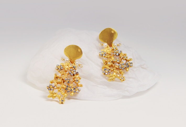 Earrings Floralies 2 Swarovski