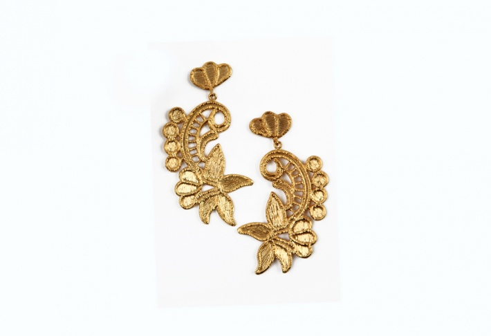 Earrings Guipure Fleur