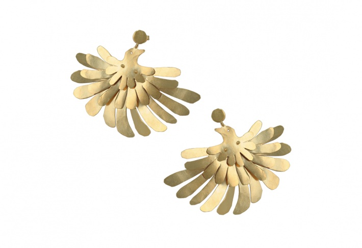Earrings Oiseaux de Paradis