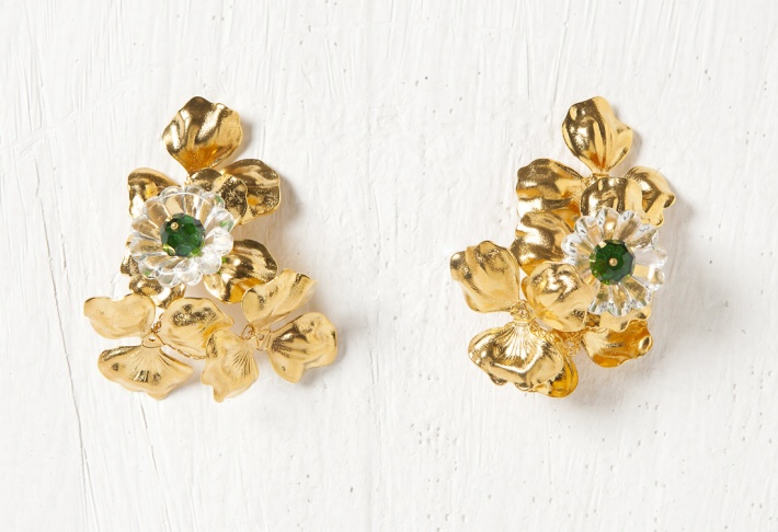 Earrings Clover Flower