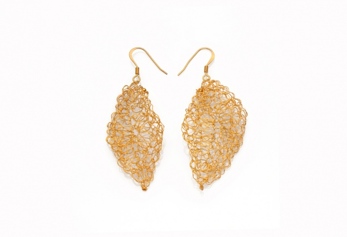 Earrings Leaves 1